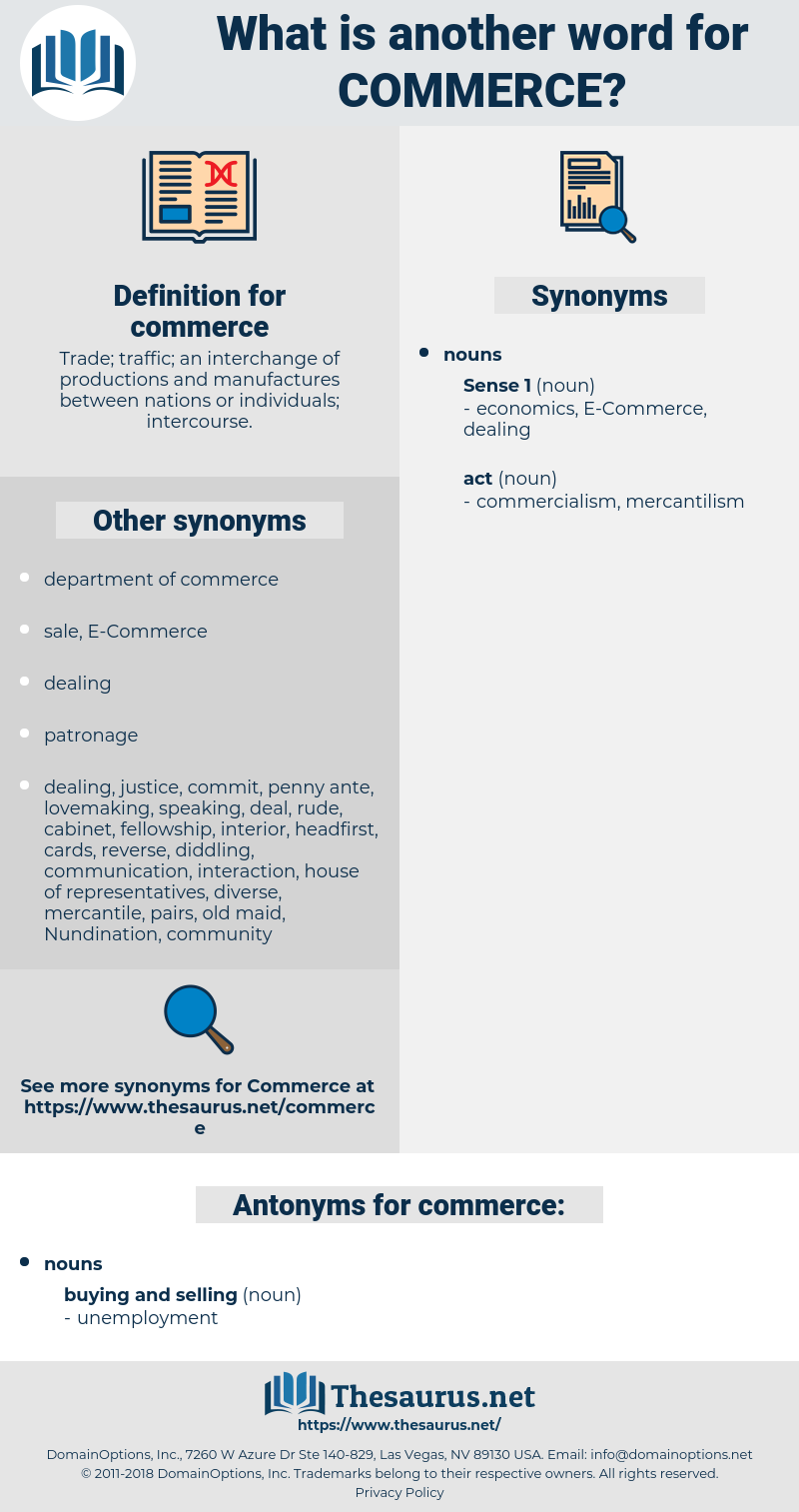 commerce, synonym commerce, another word for commerce, words like commerce, thesaurus commerce