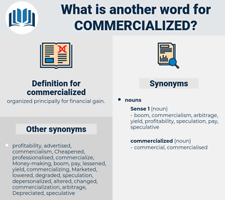 commercialized, synonym commercialized, another word for commercialized, words like commercialized, thesaurus commercialized