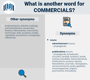 commercials, synonym commercials, another word for commercials, words like commercials, thesaurus commercials