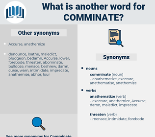 comminate, synonym comminate, another word for comminate, words like comminate, thesaurus comminate