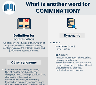 commination, synonym commination, another word for commination, words like commination, thesaurus commination