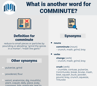 comminute, synonym comminute, another word for comminute, words like comminute, thesaurus comminute