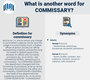 commissary, synonym commissary, another word for commissary, words like commissary, thesaurus commissary