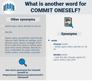 commit oneself, synonym commit oneself, another word for commit oneself, words like commit oneself, thesaurus commit oneself