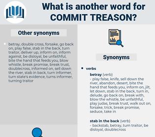 commit treason, synonym commit treason, another word for commit treason, words like commit treason, thesaurus commit treason