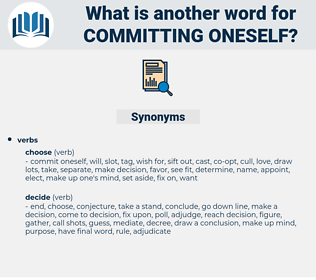 committing oneself, synonym committing oneself, another word for committing oneself, words like committing oneself, thesaurus committing oneself
