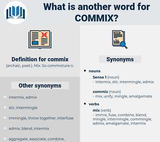 commix, synonym commix, another word for commix, words like commix, thesaurus commix