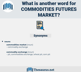 commodities futures market, synonym commodities futures market, another word for commodities futures market, words like commodities futures market, thesaurus commodities futures market