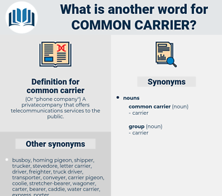 common carrier, synonym common carrier, another word for common carrier, words like common carrier, thesaurus common carrier