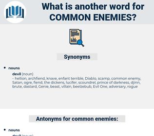 common enemies, synonym common enemies, another word for common enemies, words like common enemies, thesaurus common enemies
