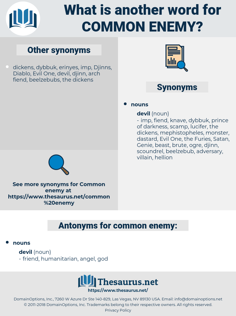 common enemy, synonym common enemy, another word for common enemy, words like common enemy, thesaurus common enemy