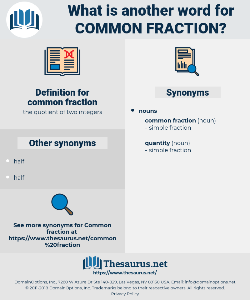 common fraction, synonym common fraction, another word for common fraction, words like common fraction, thesaurus common fraction