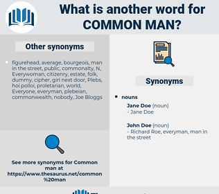 common man, synonym common man, another word for common man, words like common man, thesaurus common man