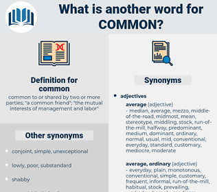 common, synonym common, another word for common, words like common, thesaurus common