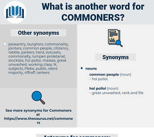 commoners, synonym commoners, another word for commoners, words like commoners, thesaurus commoners