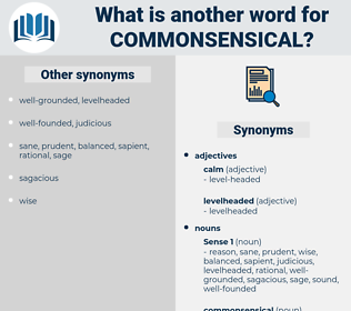 commonsensical, synonym commonsensical, another word for commonsensical, words like commonsensical, thesaurus commonsensical