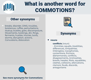 commotions, synonym commotions, another word for commotions, words like commotions, thesaurus commotions