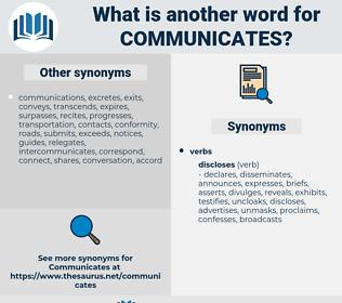 communicates, synonym communicates, another word for communicates, words like communicates, thesaurus communicates