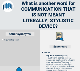 communication that is not meant literally; stylistic device, synonym communication that is not meant literally; stylistic device, another word for communication that is not meant literally; stylistic device, words like communication that is not meant literally; stylistic device, thesaurus communication that is not meant literally; stylistic device