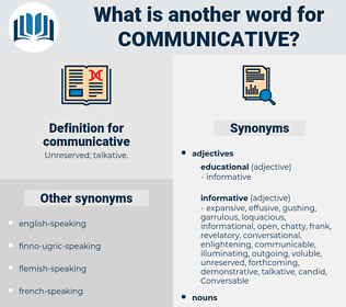 communicative, synonym communicative, another word for communicative, words like communicative, thesaurus communicative