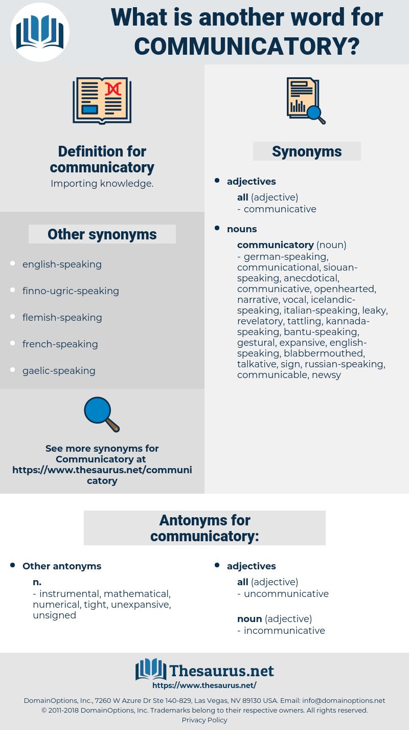 communicatory, synonym communicatory, another word for communicatory, words like communicatory, thesaurus communicatory
