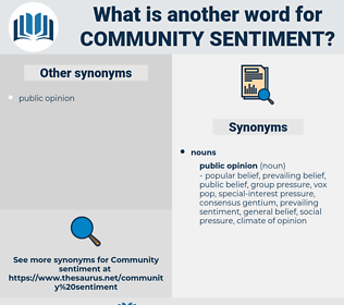 community sentiment, synonym community sentiment, another word for community sentiment, words like community sentiment, thesaurus community sentiment