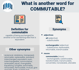 commutable, synonym commutable, another word for commutable, words like commutable, thesaurus commutable