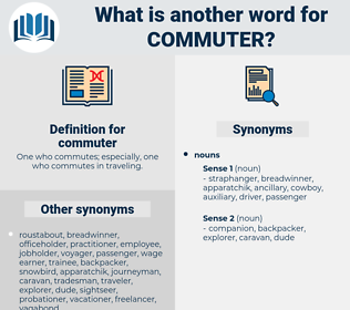 commuter, synonym commuter, another word for commuter, words like commuter, thesaurus commuter