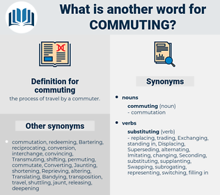 commuting, synonym commuting, another word for commuting, words like commuting, thesaurus commuting