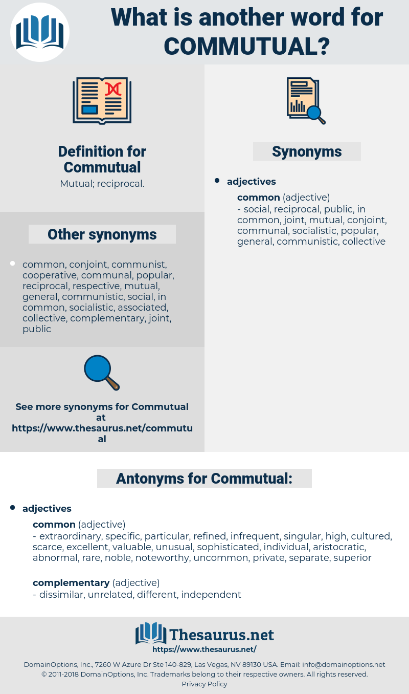 Commutual, synonym Commutual, another word for Commutual, words like Commutual, thesaurus Commutual