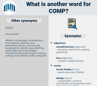 COMP, synonym COMP, another word for COMP, words like COMP, thesaurus COMP