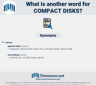 Compact Disks, synonym Compact Disks, another word for Compact Disks, words like Compact Disks, thesaurus Compact Disks