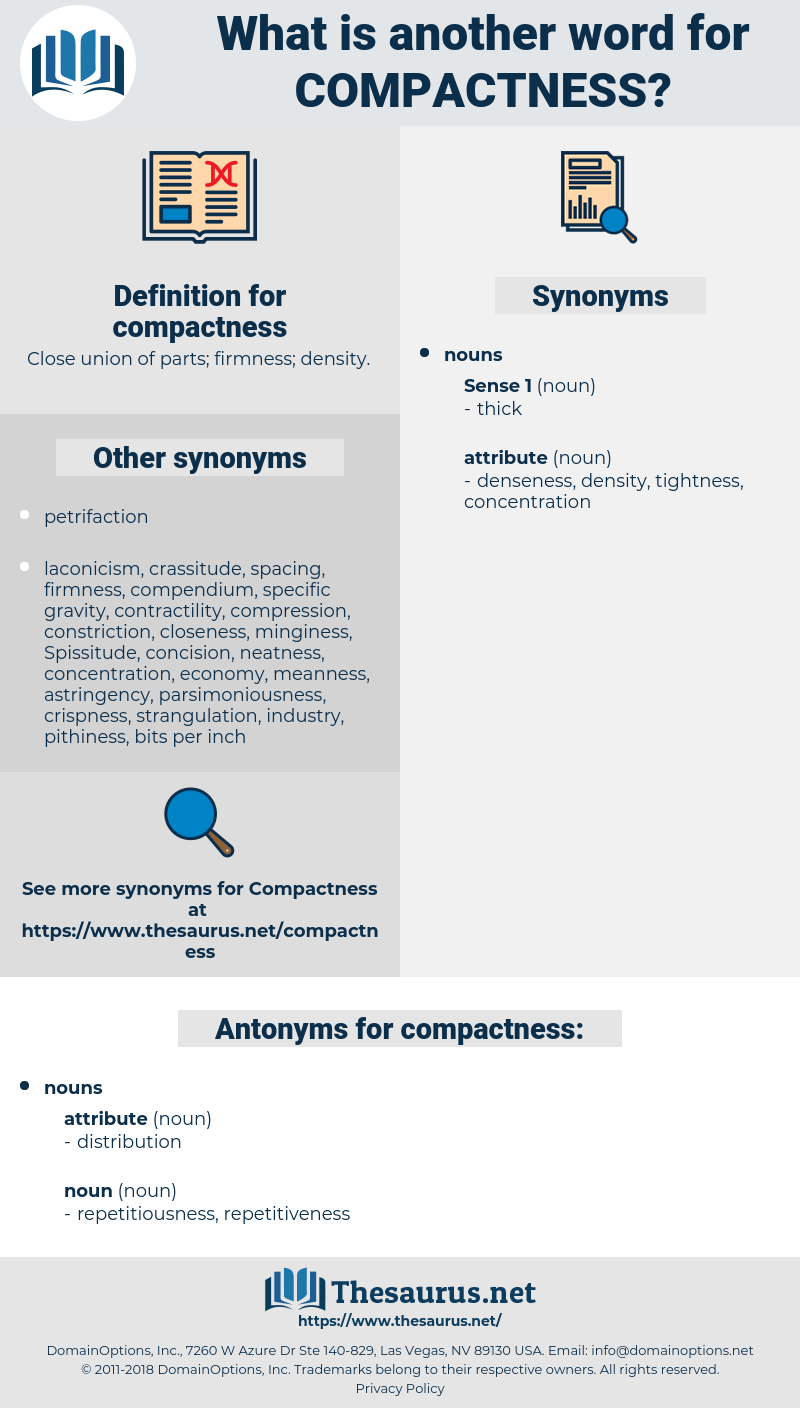 compactness, synonym compactness, another word for compactness, words like compactness, thesaurus compactness