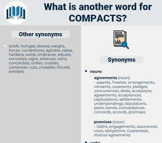 compacts, synonym compacts, another word for compacts, words like compacts, thesaurus compacts