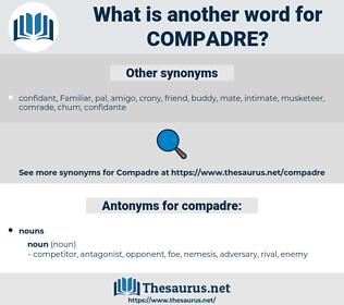compadre, synonym compadre, another word for compadre, words like compadre, thesaurus compadre