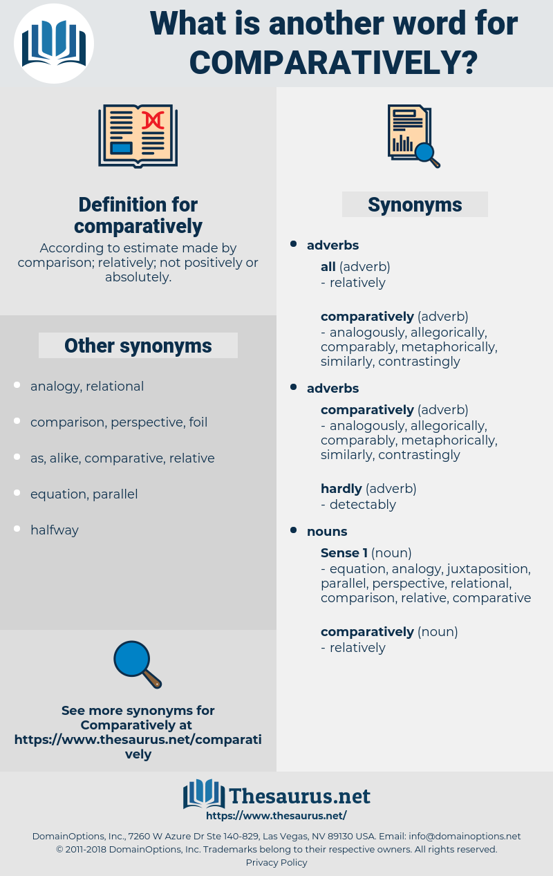 comparatively, synonym comparatively, another word for comparatively, words like comparatively, thesaurus comparatively