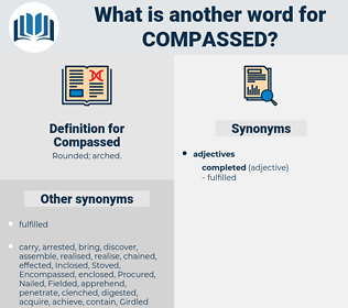 Compassed, synonym Compassed, another word for Compassed, words like Compassed, thesaurus Compassed
