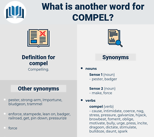 compel, synonym compel, another word for compel, words like compel, thesaurus compel