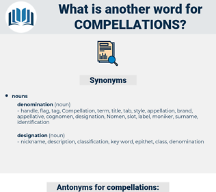 compellations, synonym compellations, another word for compellations, words like compellations, thesaurus compellations