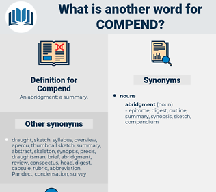 Compend, synonym Compend, another word for Compend, words like Compend, thesaurus Compend