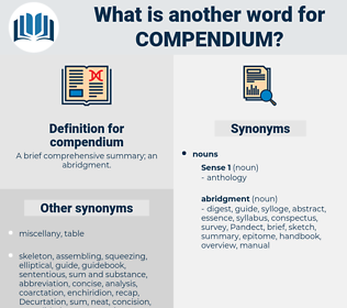 compendium, synonym compendium, another word for compendium, words like compendium, thesaurus compendium