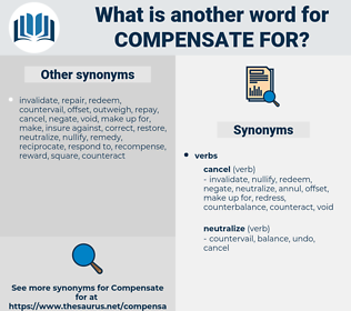 compensate for, synonym compensate for, another word for compensate for, words like compensate for, thesaurus compensate for