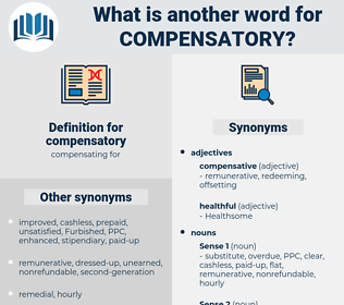 compensatory, synonym compensatory, another word for compensatory, words like compensatory, thesaurus compensatory