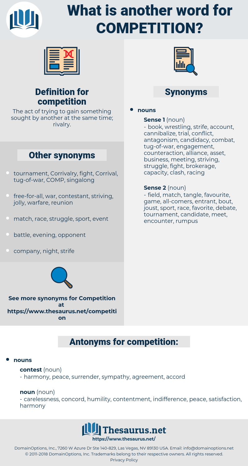 competition, synonym competition, another word for competition, words like competition, thesaurus competition