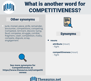 competitiveness, synonym competitiveness, another word for competitiveness, words like competitiveness, thesaurus competitiveness