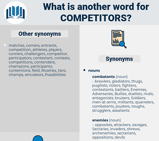 competitors, synonym competitors, another word for competitors, words like competitors, thesaurus competitors