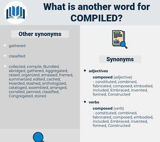 Compiled, synonym Compiled, another word for Compiled, words like Compiled, thesaurus Compiled