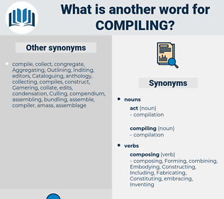 compiling, synonym compiling, another word for compiling, words like compiling, thesaurus compiling