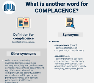 complacence, synonym complacence, another word for complacence, words like complacence, thesaurus complacence