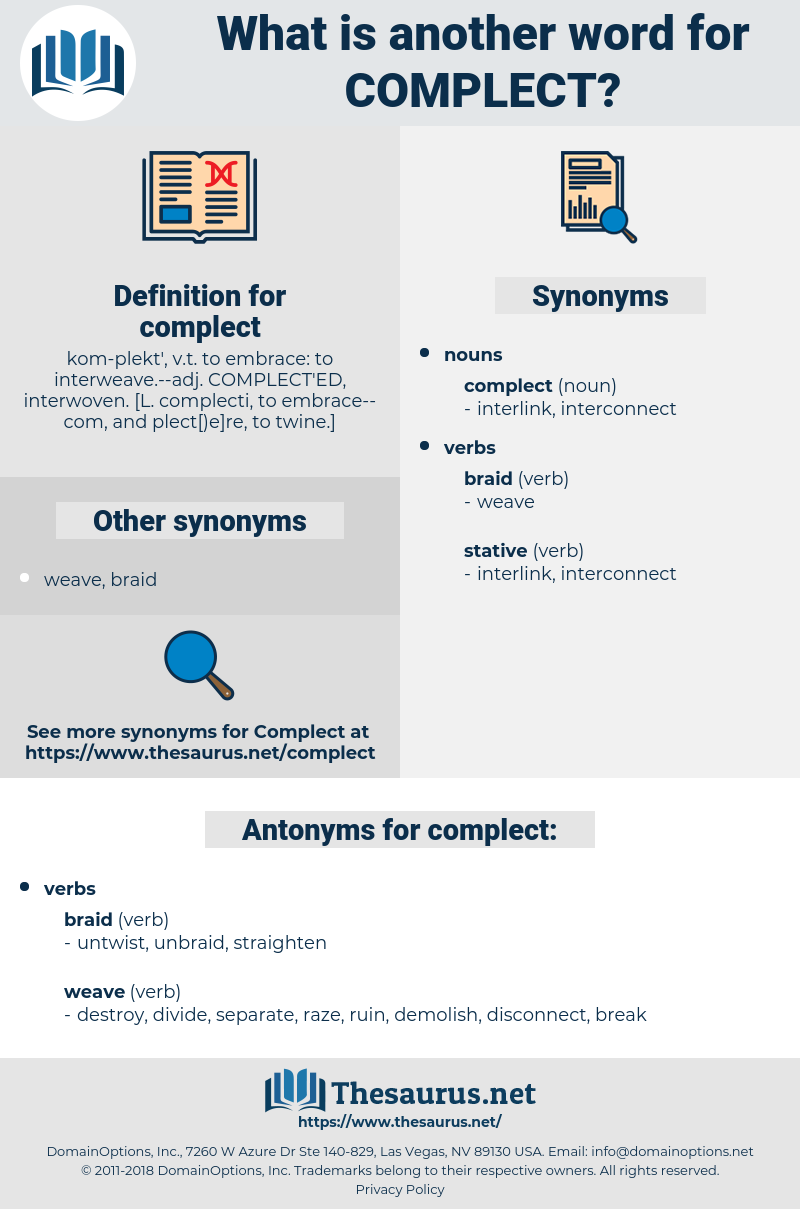 complect, synonym complect, another word for complect, words like complect, thesaurus complect